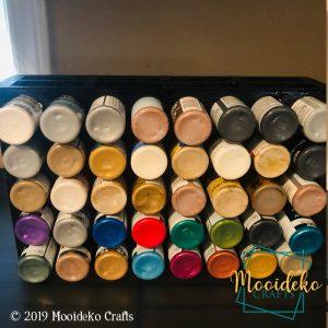 2 oz Acrylic Paint Organizer – 40 Bottles