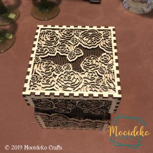 Roses Dimensional Box in Two Tone Wood