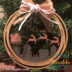 Believe In The Magic Of Christmas Layered Ornament