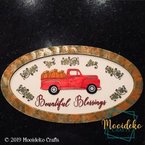 Bountiful Blessings Vintage Truck Sign