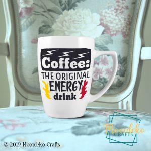 Coffee Original Energy Drink Coffee Mug,  8 oz stoneware