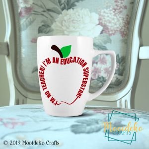 Education Superstar 8 oz stoneware coffee Mug