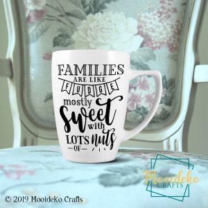 Family Sweet Nuts Coffee Mug,  8 oz stoneware