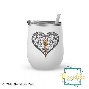 Heart Love 12 oz Insulated Wine Tumbler