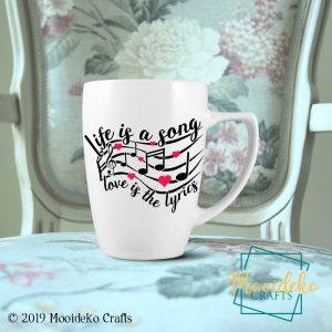 Life Song Love Lyrics 8 oz Stoneware Coffee Mug