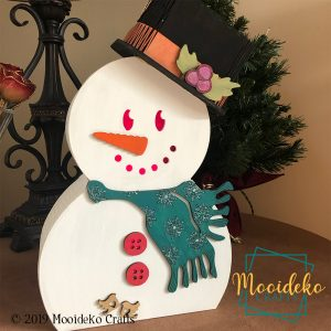 Lighted Snowman Table Top Decoration
