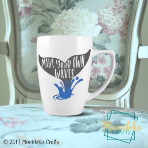 Make Waves 8 oz Stoneware Coffee Mug
