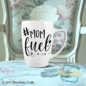 Mom Fuel Coffee Mug,  8 oz stoneware