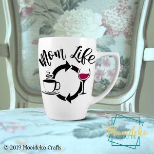 Mom Life Coffee Mug, 8 oz stoneware