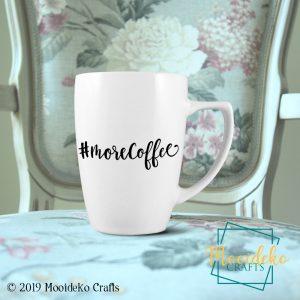 #morecoffee 8 oz Stoneware Coffee Mug