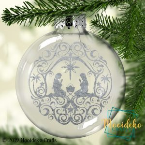 Nativity Floating Christmas Ornament