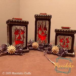 Spooky Pumpkins Lantern Set Home Decoration