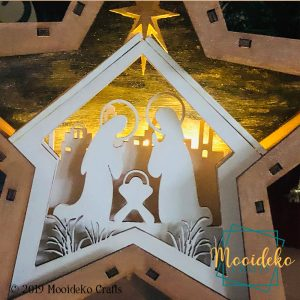 Star Nativity Lighted Table Top Decoration