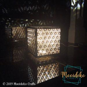 Striking Reflection Cube  Lamp