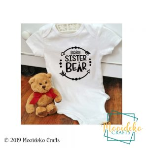 Baby Sister Baby Bear Onesies