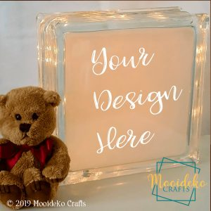 Personalized Lighted Glass Cube