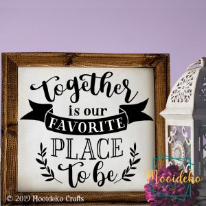 Together Favorite Place Reverse Canvas Wall Decoration