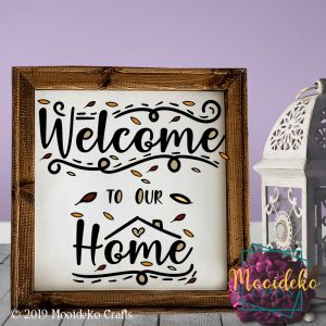 Welcome Home Reverse Canvas Wall Decoration