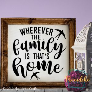 Wherever Family Home Reverse Canvas Wall Decoration