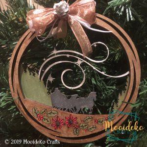 Dashing Through The Snow Layered Ornament