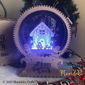 Gingerbread House Christmas LED Shadow Box – Multicolored