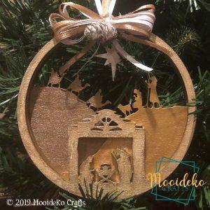 Nativity Scene layered ornament