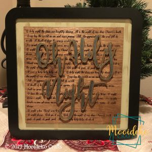 Oh Holy Night Engraved Cutout Wood Sign