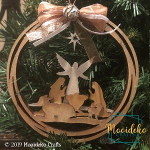 Merry Christmas Layered Ornament