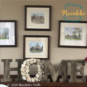 """""""Home"""" Flower Mantel Table Top Decoration"""