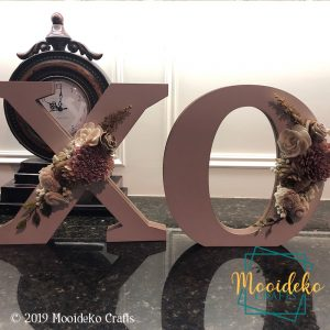 Standalone Flower Arrangement Letters