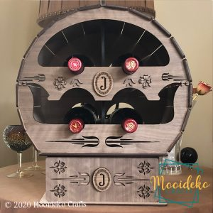 Decorative Mini Barrel Wine Rack